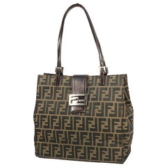 FENDI Zucca Womens tote bag 0915808 khaki x brown