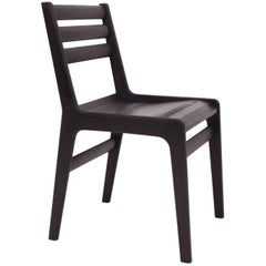 'Fenelon' Wood Chair in Ebonized Maple - Black