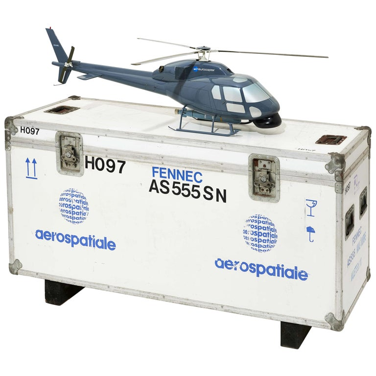 Fennec AS555 Helicopter Model with Transport Box For Sale