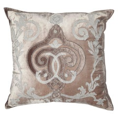 Fer Forge Velvet Throw Pillow by Zuber