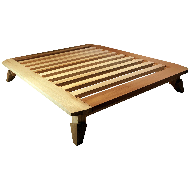 Feral king-size bed - multi-wood, designed by Nigel Coates