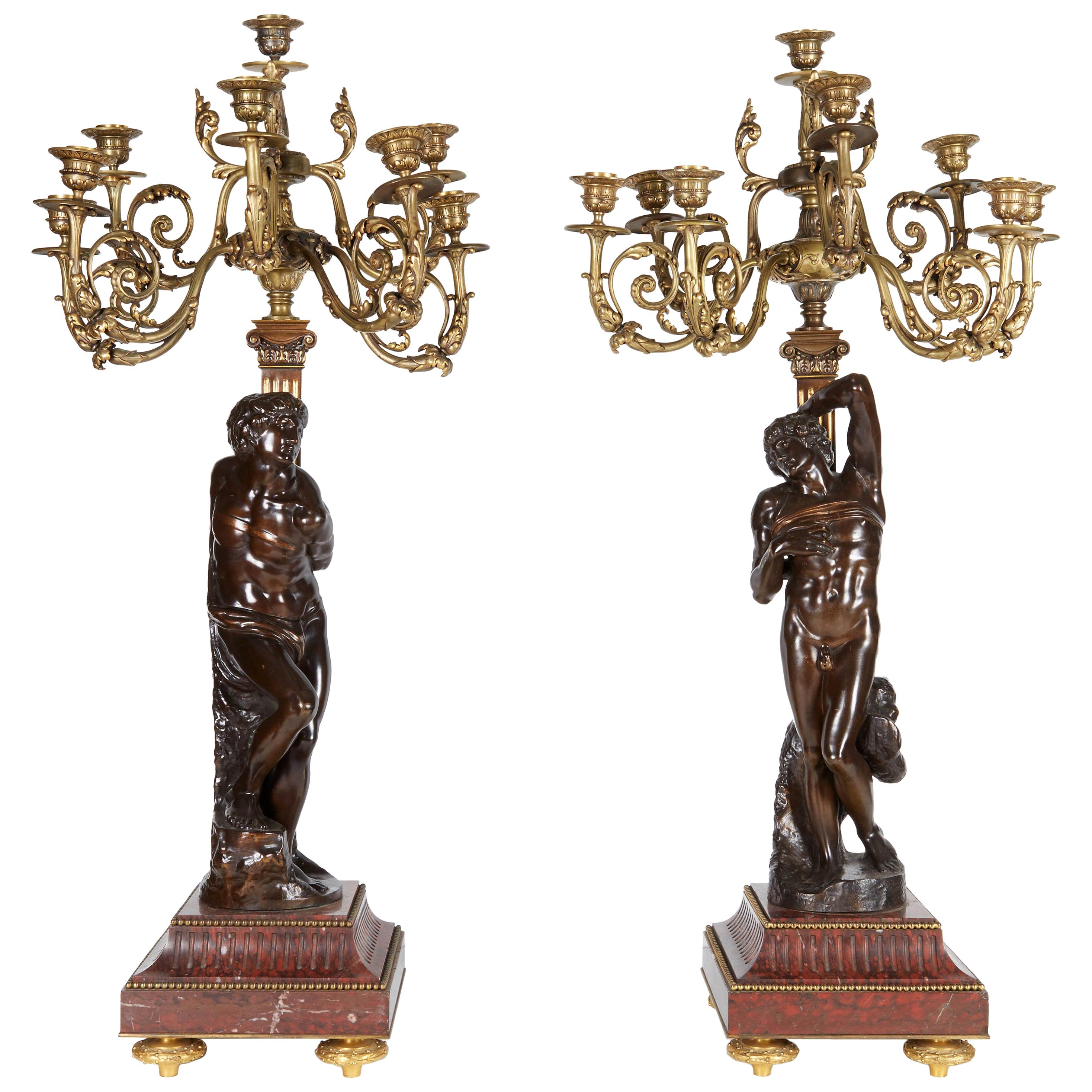 F. Barbedienne Foundry Candle Holders