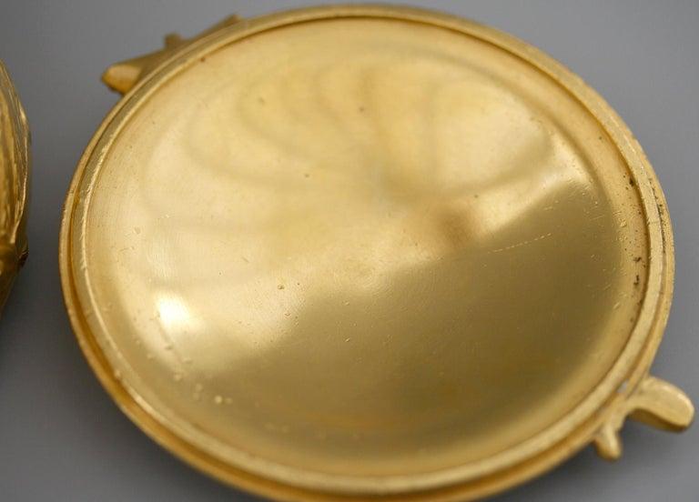 Ferdinand Barbedienne Art Nouveau Gilt Bronze Lidded Box by Robinet For Sale 8
