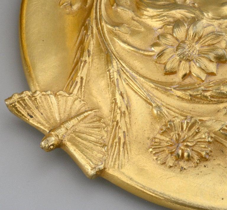 Ferdinand Barbedienne Art Nouveau Gilt Bronze Lidded Box by Robinet For Sale 1