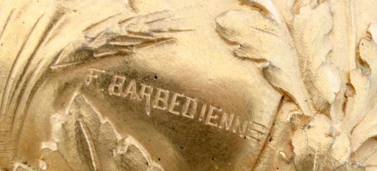 Ferdinand Barbedienne Art Nouveau Gilt Bronze Lidded Box by Robinet For Sale 4