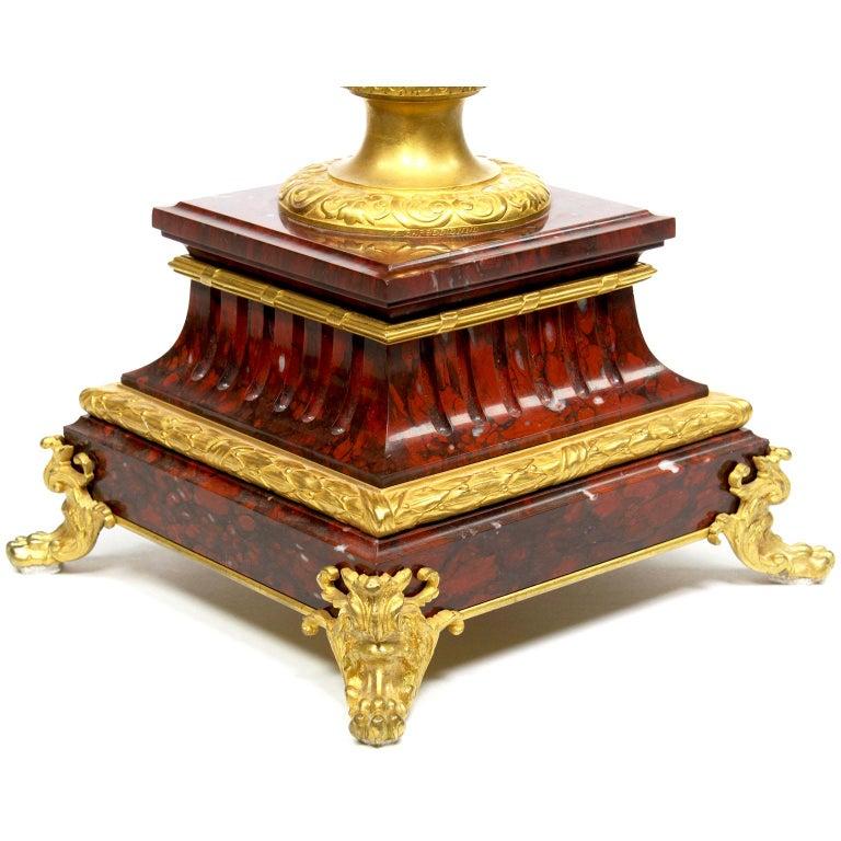 Ferdinand Barbedienne Pair of Marble & Ormolu Urn Low Tables For Sale 7