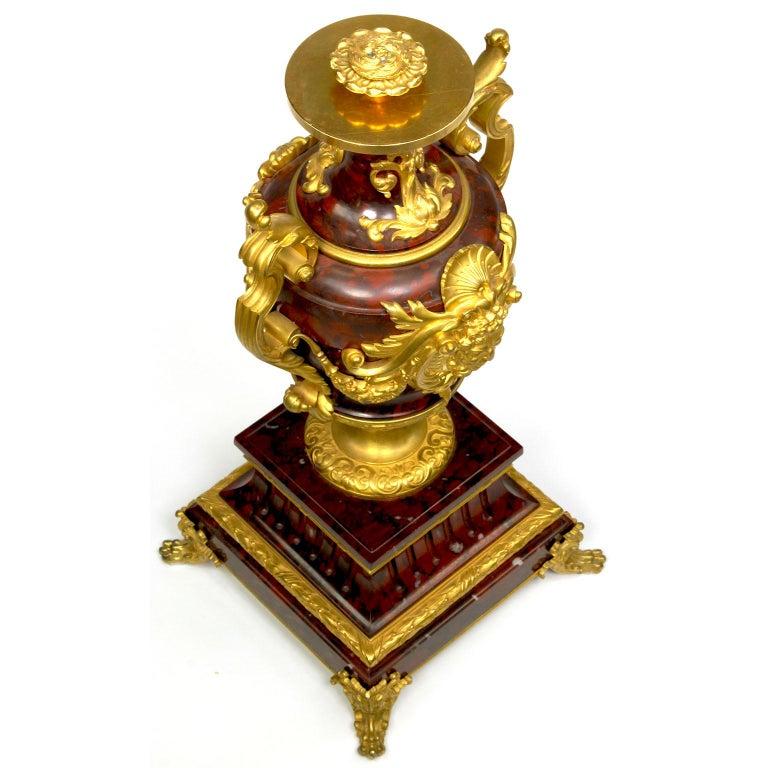 Ferdinand Barbedienne Pair of Marble & Ormolu Urn Low Tables For Sale 8