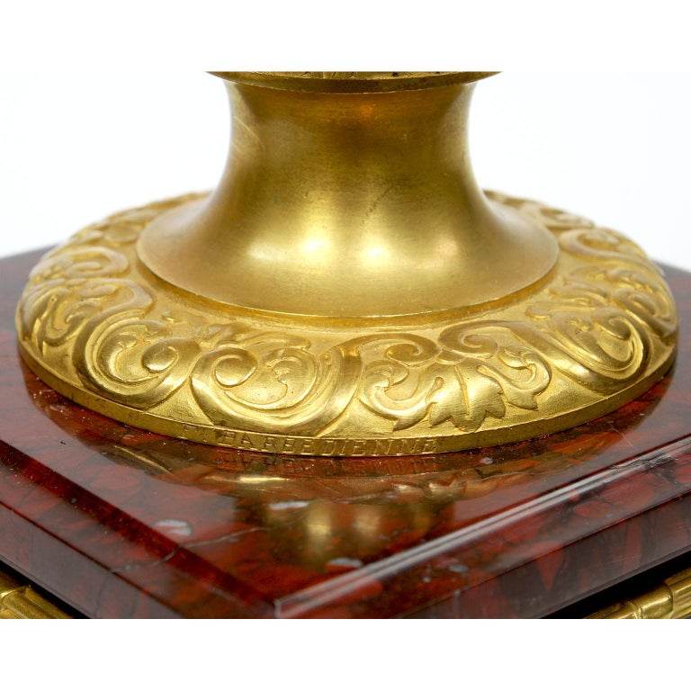 Ferdinand Barbedienne Pair of Marble & Ormolu Urn Low Tables For Sale 9