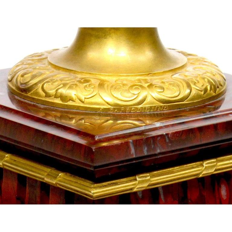 Ferdinand Barbedienne Pair of Marble & Ormolu Urn Low Tables For Sale 10