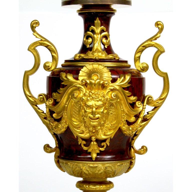 19th Century Ferdinand Barbedienne Pair of Marble & Ormolu Urn Low Tables For Sale