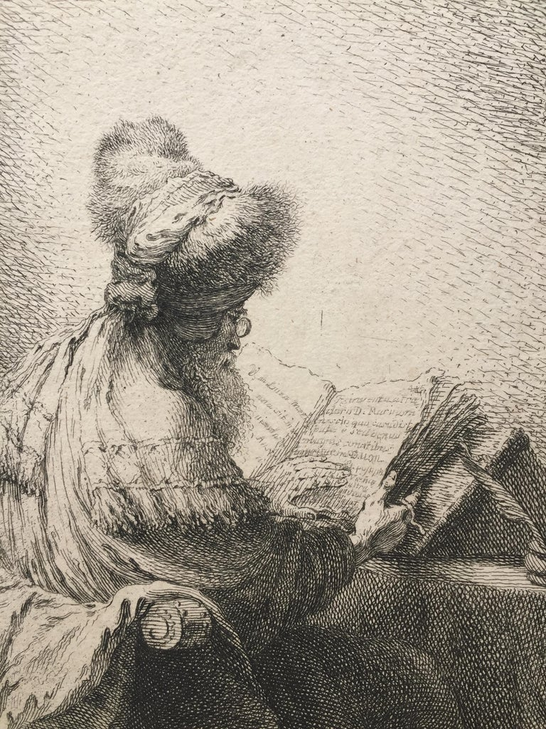 (PHILOSOPHER READING) - Old Masters Print by Ferdinand Bol