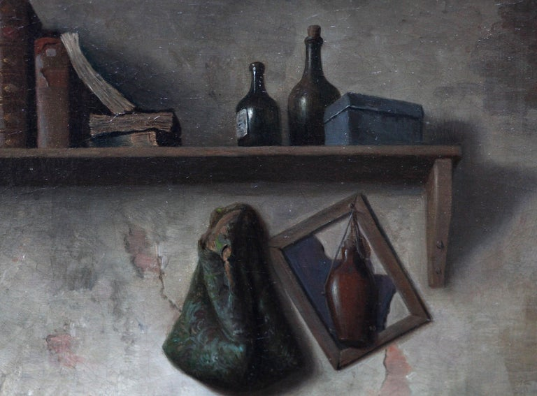 The School Room - Flemish 19th century art interior genre oil painting children For Sale 2