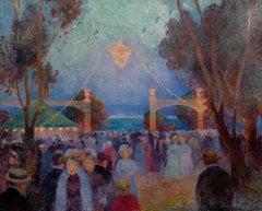 14 juillet, fête foraine - Ferdinand du Puigaudeau, impressionist, 14 july