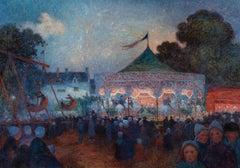 Le Manège de nuit et fête foraine - Ferdinand du Puigaudeau, impressionist, art