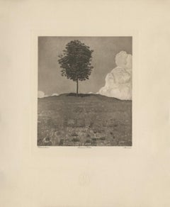 """Chestnut Tree"" Copper Plate Heliogravure"