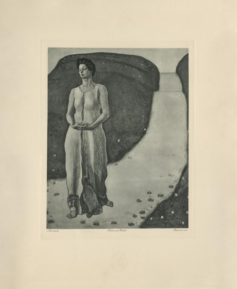 "Ferdinand Hodler & R. Piper & Co. Figurative Print - ""Evening Peace"" Copper Plate Heliogravure"