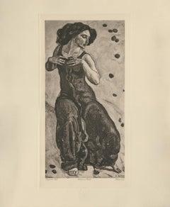 """""""Exuberant Woman"""" Copper Plate Heliogravure"""