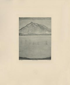 """Niesen Mountainscape"" Copper Plate Heliogravure"