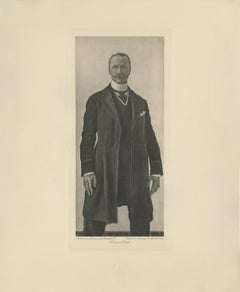 """Portrait of Swiss Political Attachee, Carlin"" Copper Plate Heliogravure"