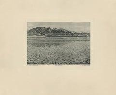 """""""Stockhorn Mountain Range at Thuner Lake"""" Copper Plate Heliogravure"""