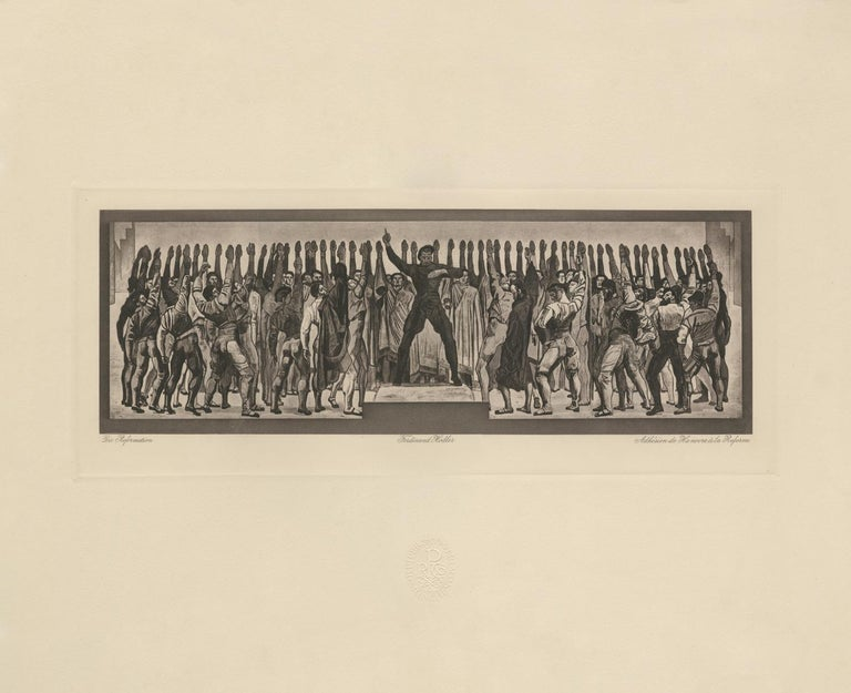 """Ferdinand Hodler & R. Piper & Co. Figurative Print - """"The Reformation, Hannover"""" Copper Plate Heliogravure"""