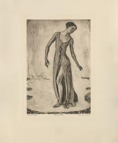 """Woman Turning Around"" Copper Plate Heliogravure"