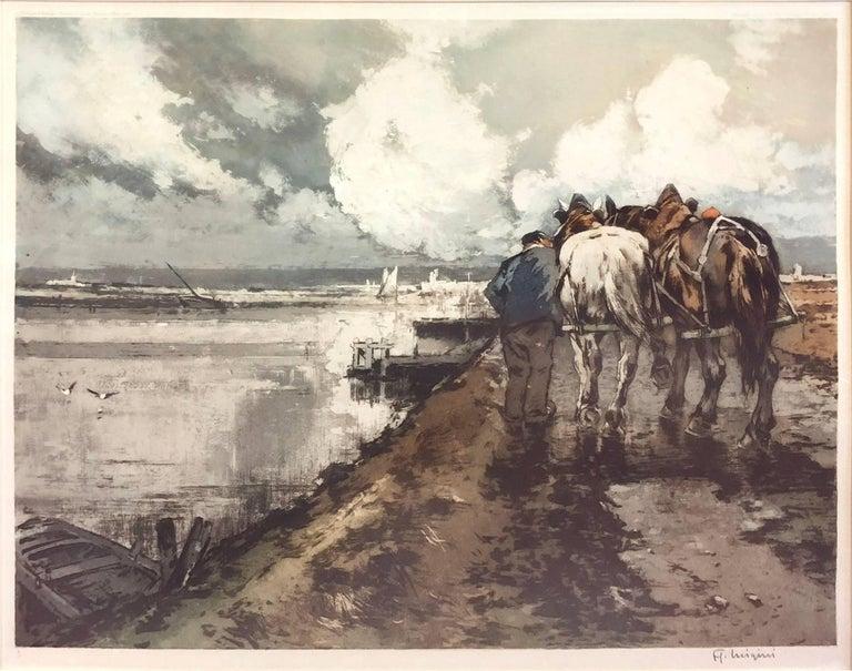 Le Route en Hiver by Ferdinand-Jean Luigini   1