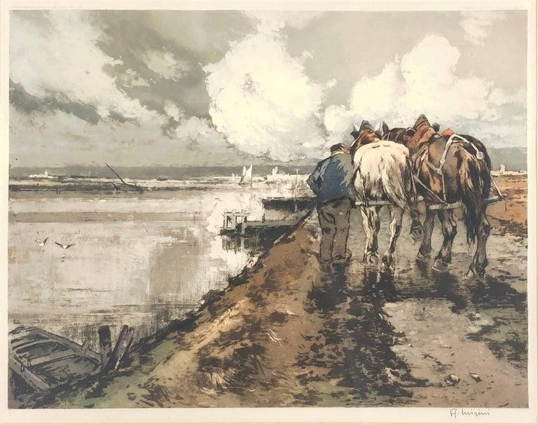 Le Route en Hiver by Ferdinand-Jean Luigini   2