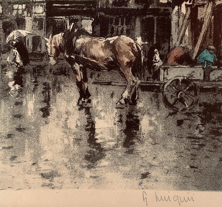 Place Flamamde, Brussels - Print by Ferdinand-Jean Luigini