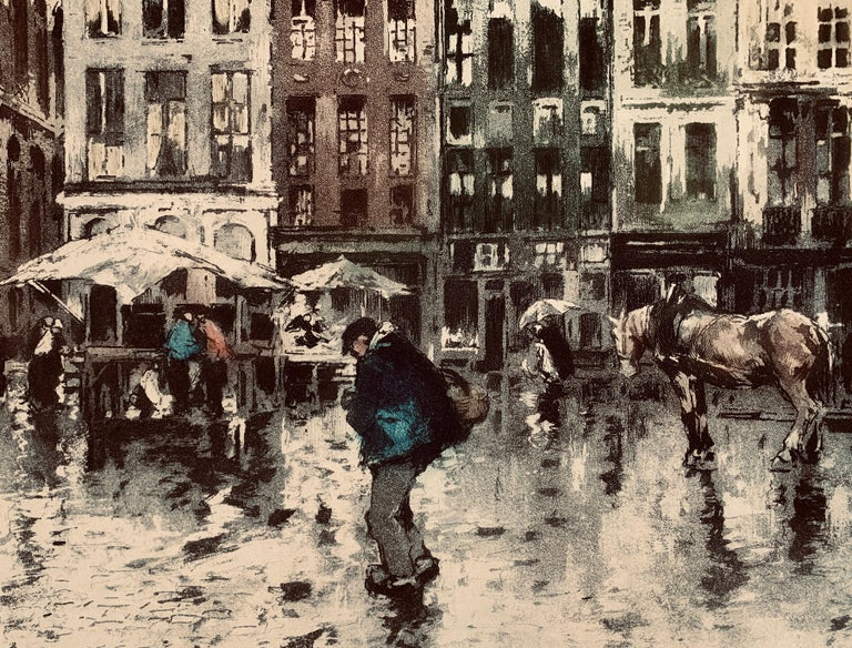 Place Flamamde, Brussels - Modern Print by Ferdinand-Jean Luigini