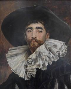 Ferdinand Roybet (1840-1920) Portrait of a Renaissance Gentleman, oil on panel