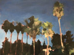 Waterman Palms No. 4, California, Palm Trees, Blue, Green, Landscape, Trees