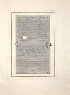 Ancient Roman Inscriptions - Etching by Ferdinando Campana - Late 18 Century