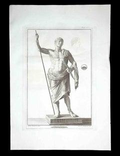 Ancient Roman Statue - Etching by Ferdinando Campana - 18th Century