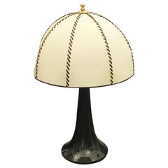 Ferdinando Loffredo Black Ceramic Table Lamp, 1970s