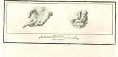 The Hands, Ancient Roman Art - Etching by Ferdinando Strina - 18th Century