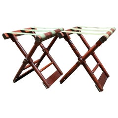 Ferguson Brothers Manufacturing Company Campaign Style Luggage Racks