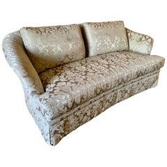 Ferguson Copeland Silk Damask Sofa One of Two
