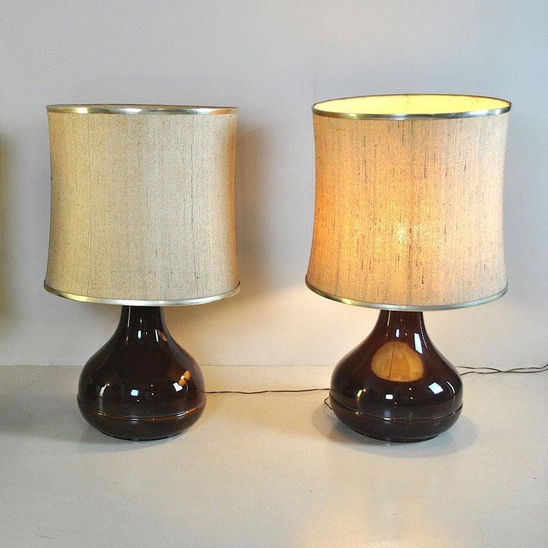 Mid-Century Modern Ferlaro Ceramic Italian Midcentury Table Lamp