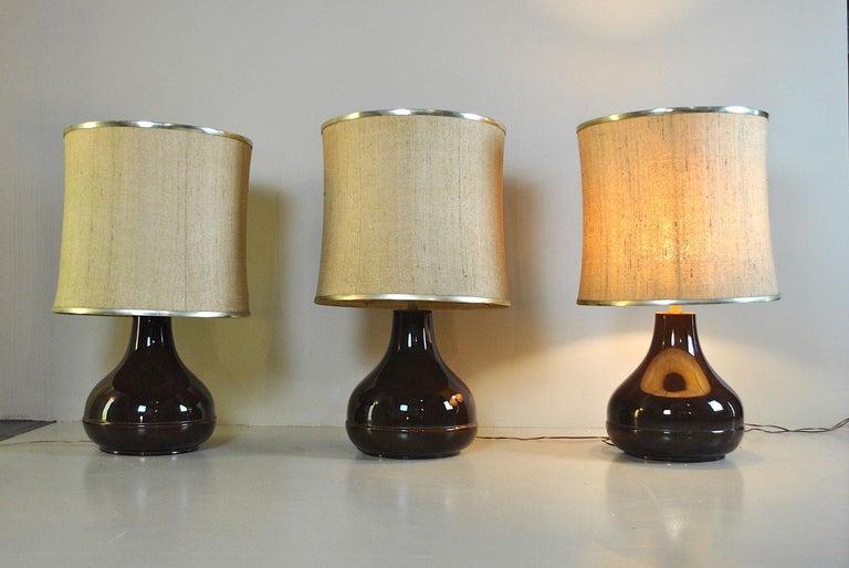 Ferlaro Ceramic Italian Midcentury Table Lamp In Good Condition In bari, IT