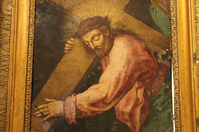 F. Fenzoni (Circle), Italian 16th century Religious Oil on Copper Painting For Sale 1