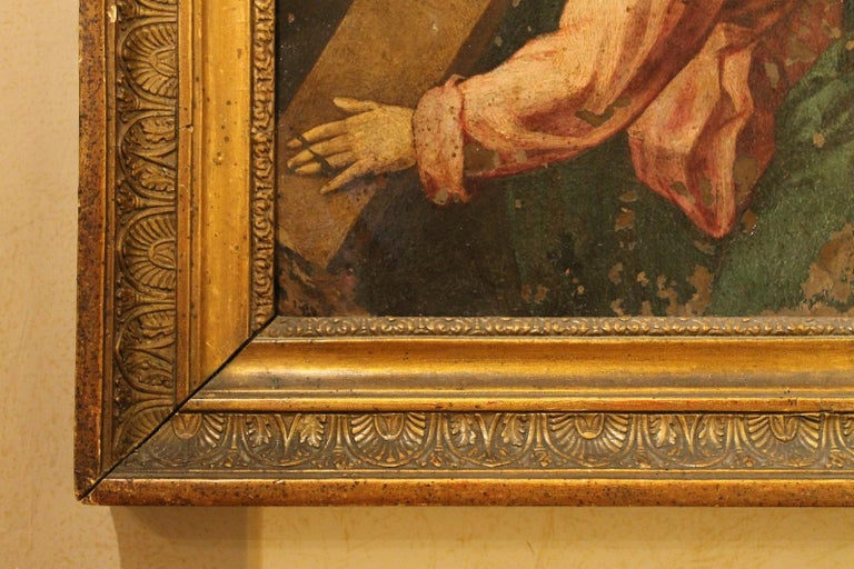 F. Fenzoni (Circle), Italian 16th century Religious Oil on Copper Painting For Sale 3