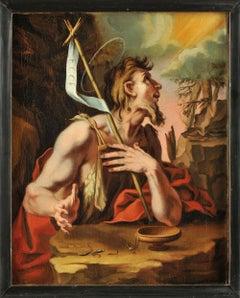 Saint John the Baptist, Old Master, 17th Century, By Fenzoni, Religious Scene