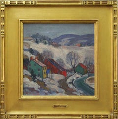 Fern Isabel Coppedge, Winter Scene, Oil on Canvas