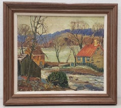 "Fern Coppedge (American, 1883-1951)  ""New Hope, Pennsylvania"" Oil Painting"
