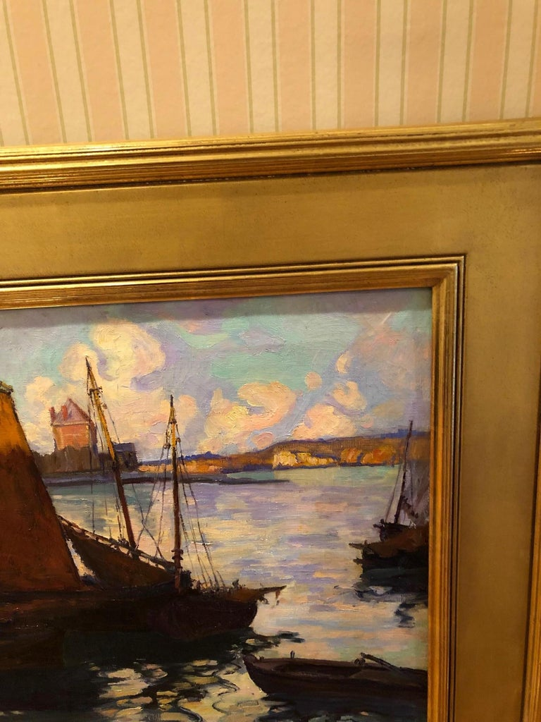 Oiled Fern Isabel Coppedge, Gloucester Harbour For Sale