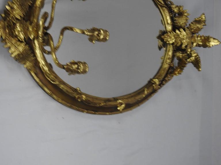 Fern Leaf Mirrored Sconces For Sale 3