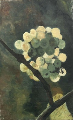 FERNAND AUDET (1923-2016) SIGNED FRENCH POST-IMPRESSIONIST OIL-BLOSSOM ON BRANCH