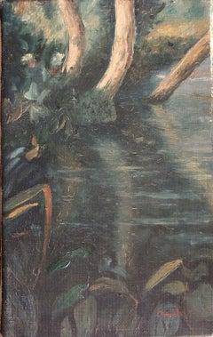FERNAND AUDET (1923-2016) SIGNED FRENCH POST-IMPRESSIONIST OIL - RIVER LANDSCAPE