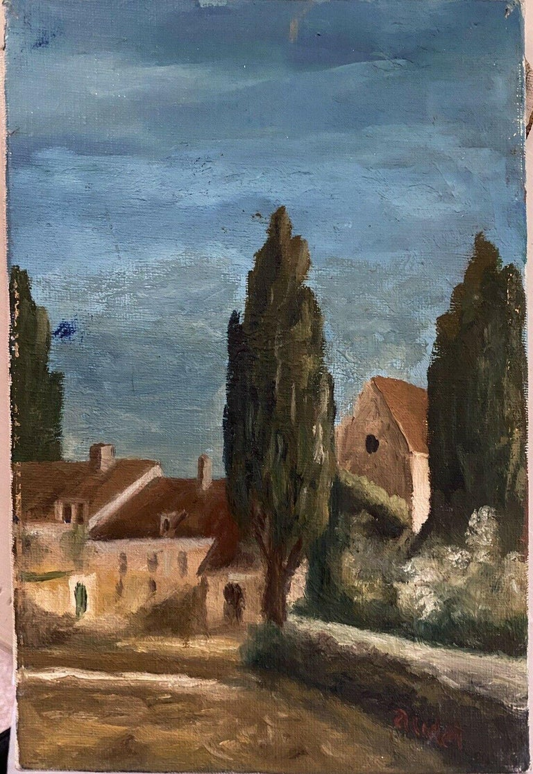SIGNED FRENCH POST-IMPRESSIONIST OIL - PROVENCAL LANDSCAPE - Painting by Fernand Audet